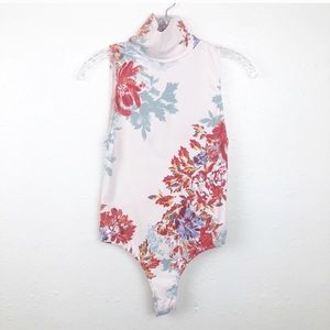 Free People Intimately Floral Open Back Bodysuit S